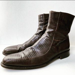 Versace Crocodile Leather Ankle Boots